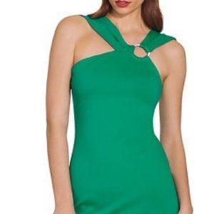 BOSTON PROPER Asymmetrical Sheath Dress, L